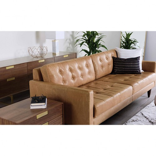 Beau Shop The Look Eliot Leather Sofa   Photo By Santiago Yepes