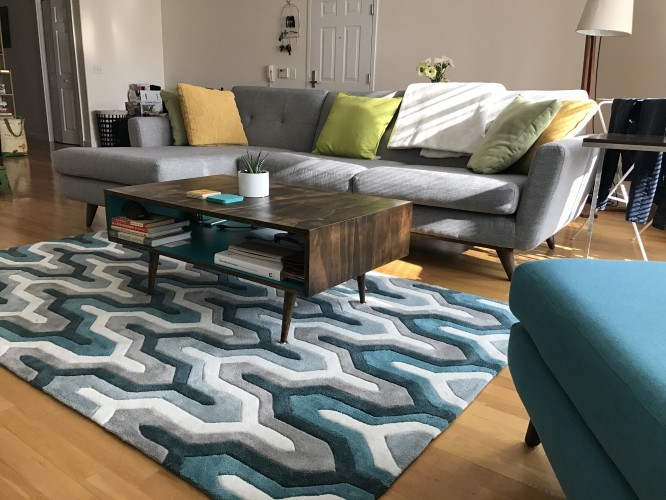 Preston Rug (Teal Silver) - Photo by Adam Kunicki