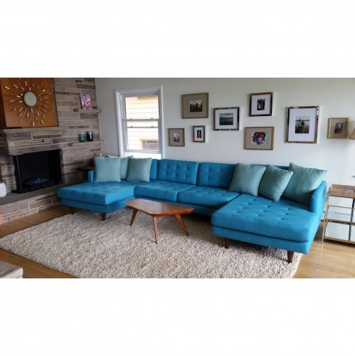 Eliot U-Chaise Sectional  - Photo by Carol R.