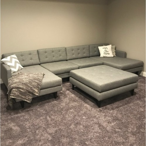 Eliot U-Chaise Sectional  - Photo by Heidi Baham