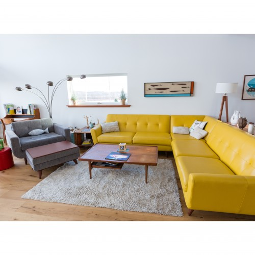 Hughes Leather Corner Sectional   - Photo by Sasha Presseisen