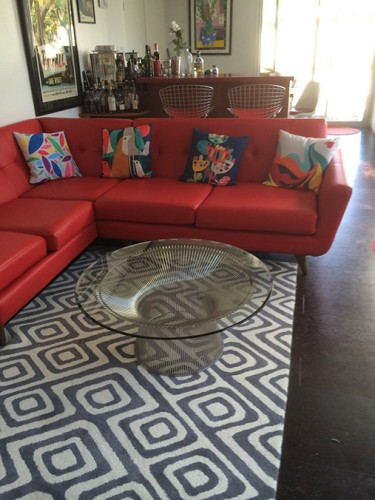 Hughes Leather Sectional with Bumper (Custom) - Photo by Limor L.