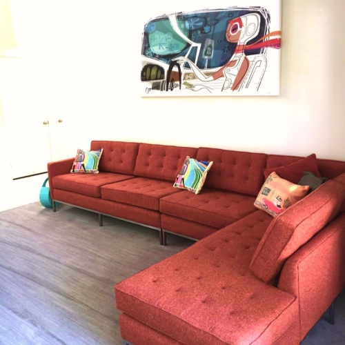 Franklin Single Arm Loveseat  - Photo by Bunny G.