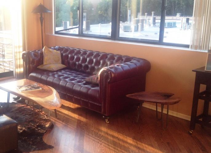 Theo Leather Sofa - Photo by Lena Matz