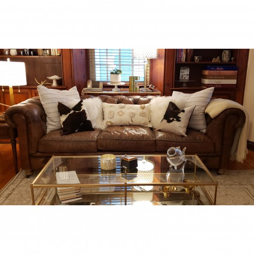 Liam Leather Sofa - Photo by Leslie Eagle