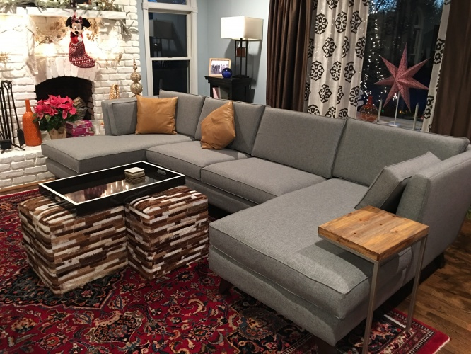 Roller U-Chaise Sectional  - Photo by Trisha Larsen