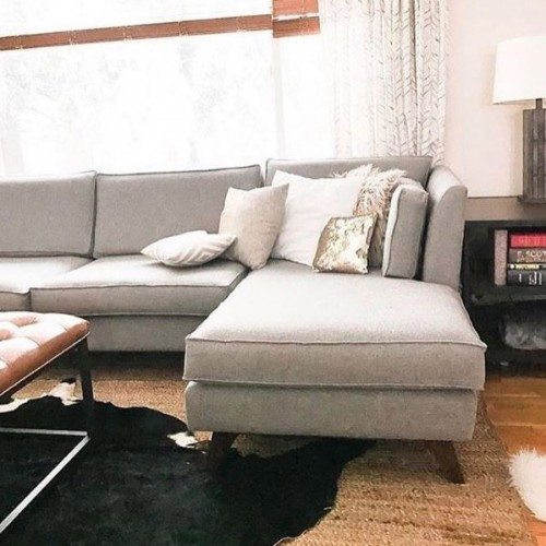 Roller U-Chaise Sectional  - Photo by Sara Morris