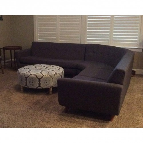 shop the look hughes round corner sectional photo by theresa morgan