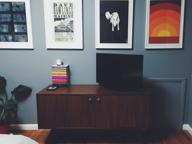 Auden Apartment Media Console - Photo by Heidi Rolf