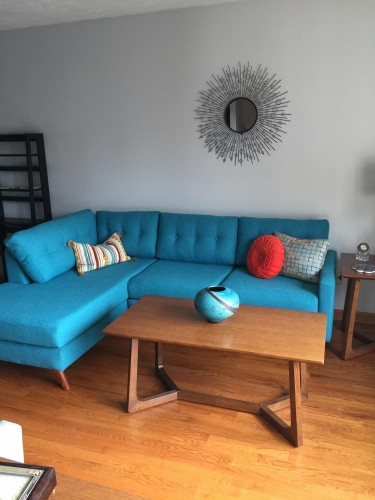 Shop The Look Hopson Apartment Sectional with Bumper - Photo by Jane S. : apartment sectionals - Sectionals, Sofas & Couches