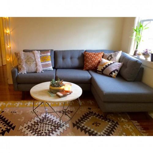 Hopson Apartment Sectional with Bumper | Joybird