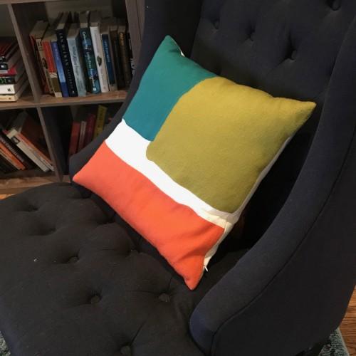 Jayden (Green) Pillow - Photo by Jacquelyn Singer