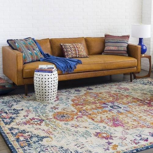 Serena Leather Sofa - Photo by Ryan P.