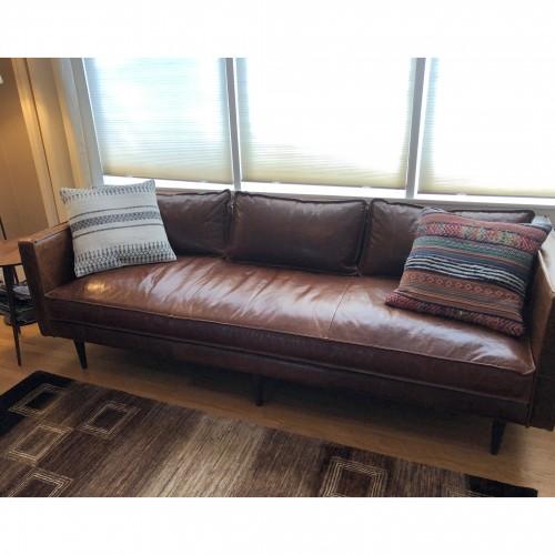 Serena Leather Sofa - Photo by Melissa Hornbein