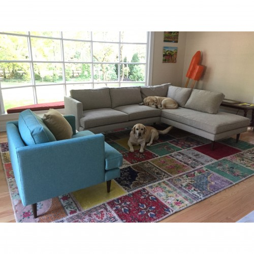 Preston Sectional with Bumper (2 piece) - Photo by Aisling Colon