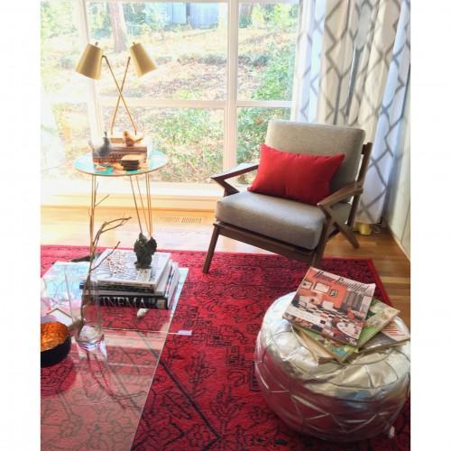 Mia Red Pillow - Photo by Wendi Dunlap