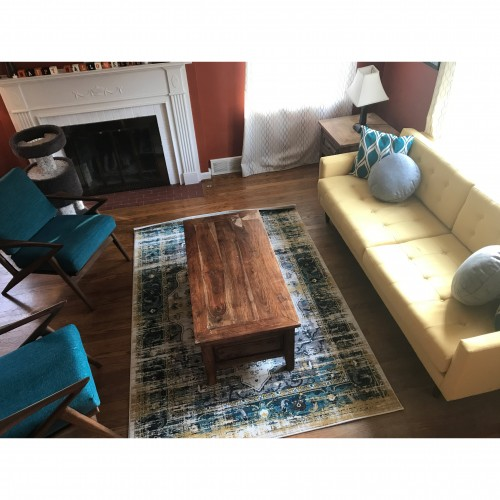 Aveline Teal Rug - Photo by Amy Naugle