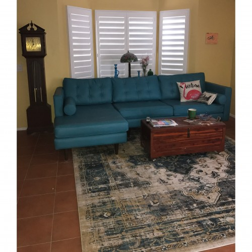 Aveline Teal Rug - Photo by Diane Coscarelli