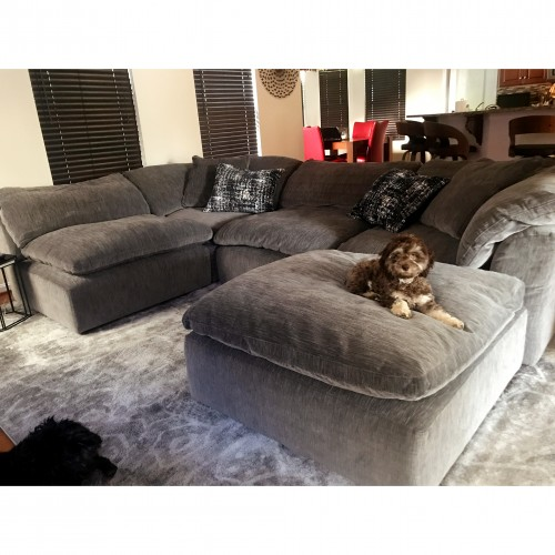 Bryant U-Sofa Bumper Sectional (5 piece) - Photo by Jennifer Meadows