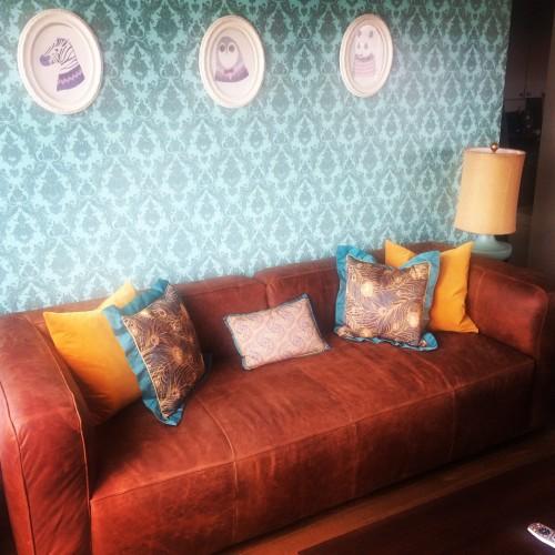 Logan Leather Sofa - Photo by Mary Woodruff