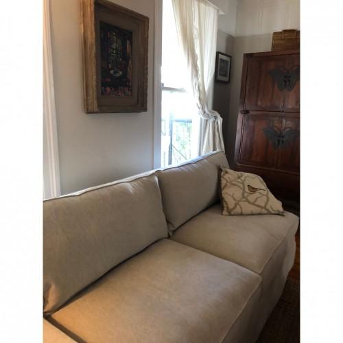 Presley Slipcover Sofa - Photo by Jennifer Borrero